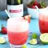 Prosecco Strawberry Margaritas
