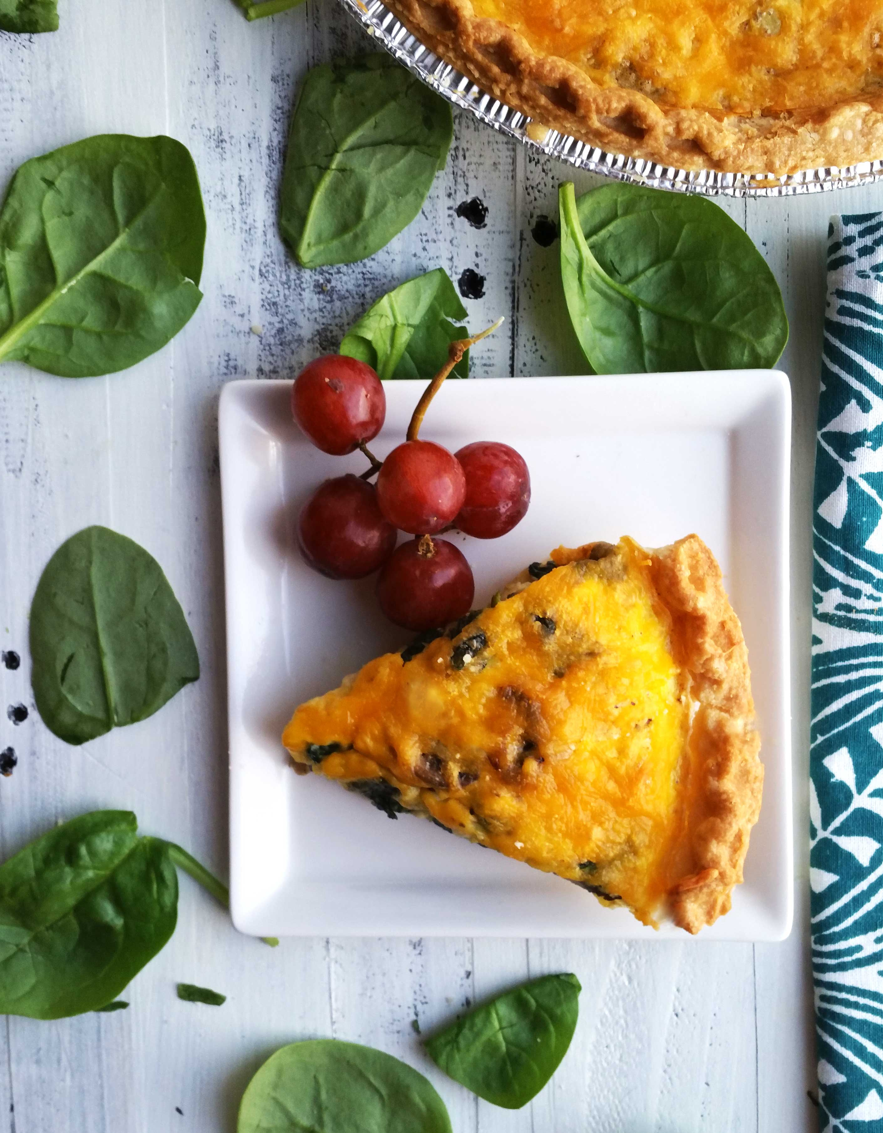Best Spinach and Mushroom Quiche