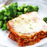 A bit of spinach gets mixed in the Ricotta for this easy lasagna recipe.