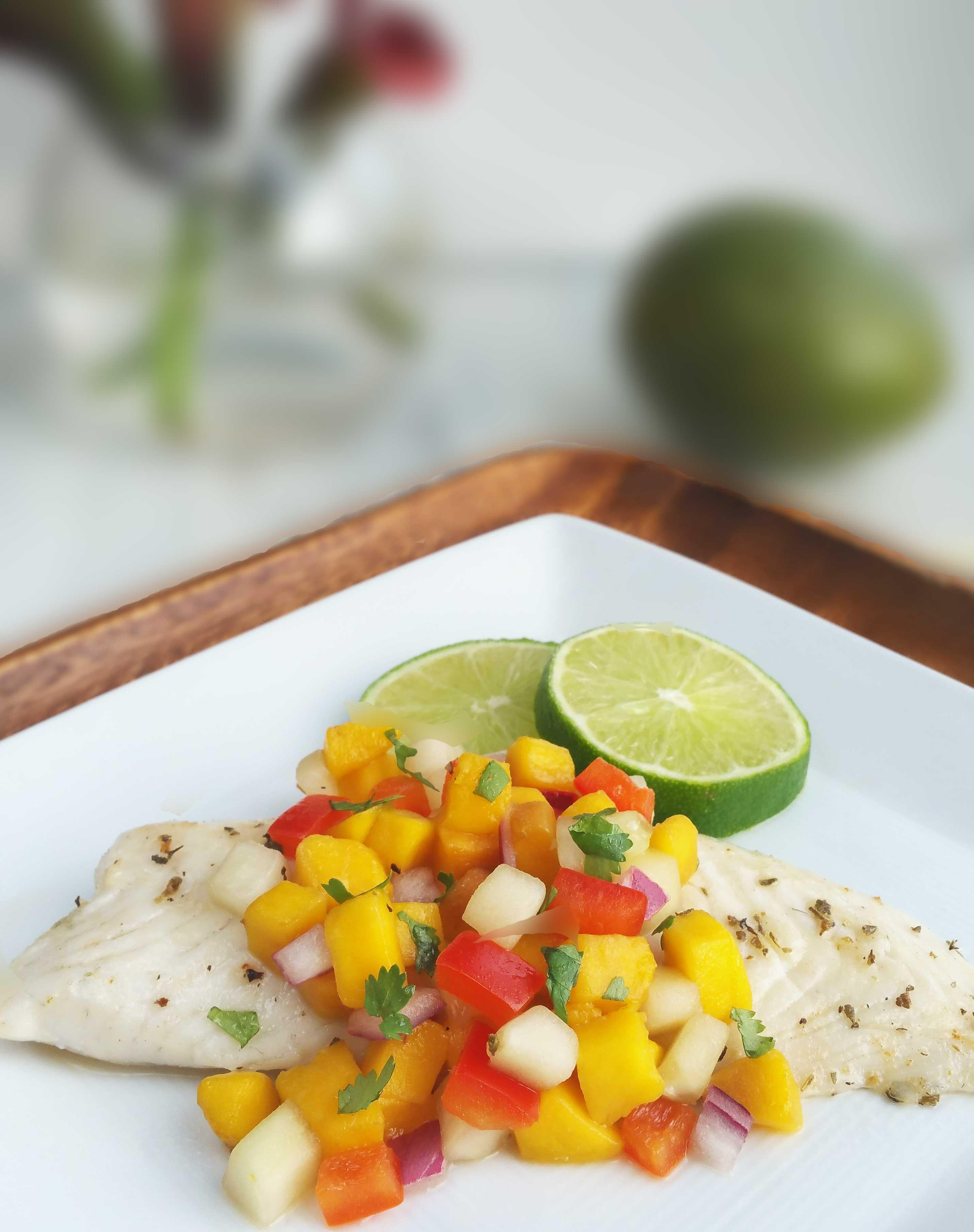 Mango Salsa Tilapia