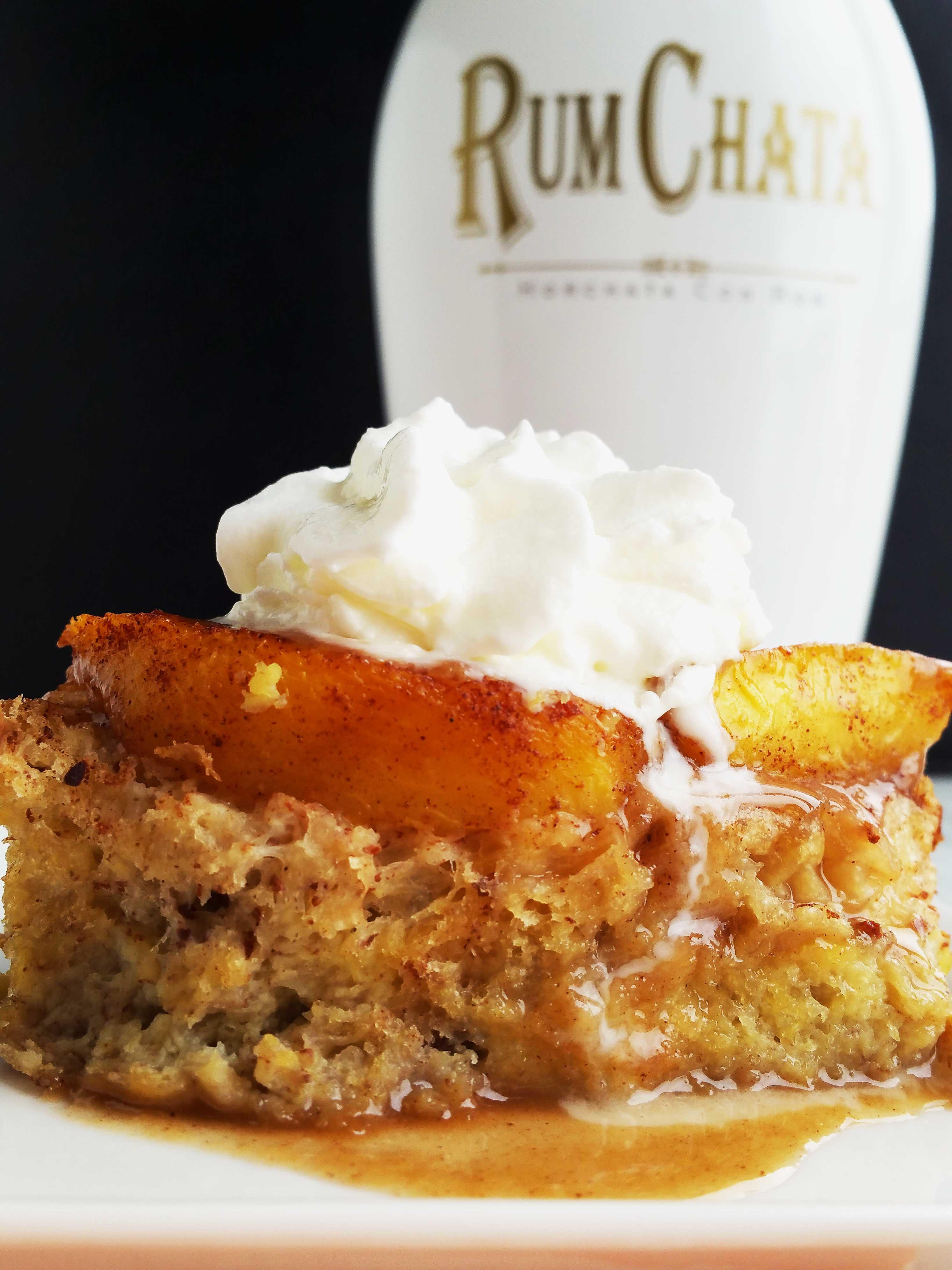 Rum Chata Peach French Toast