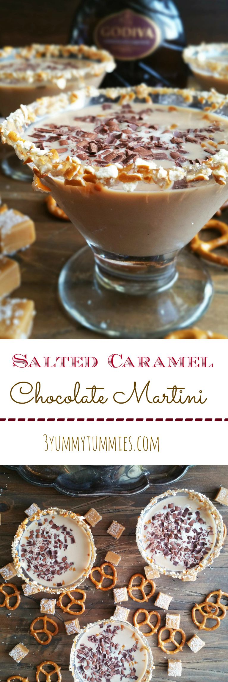 Salted Caramel Chocolate Martini 3 Yummy Tummies