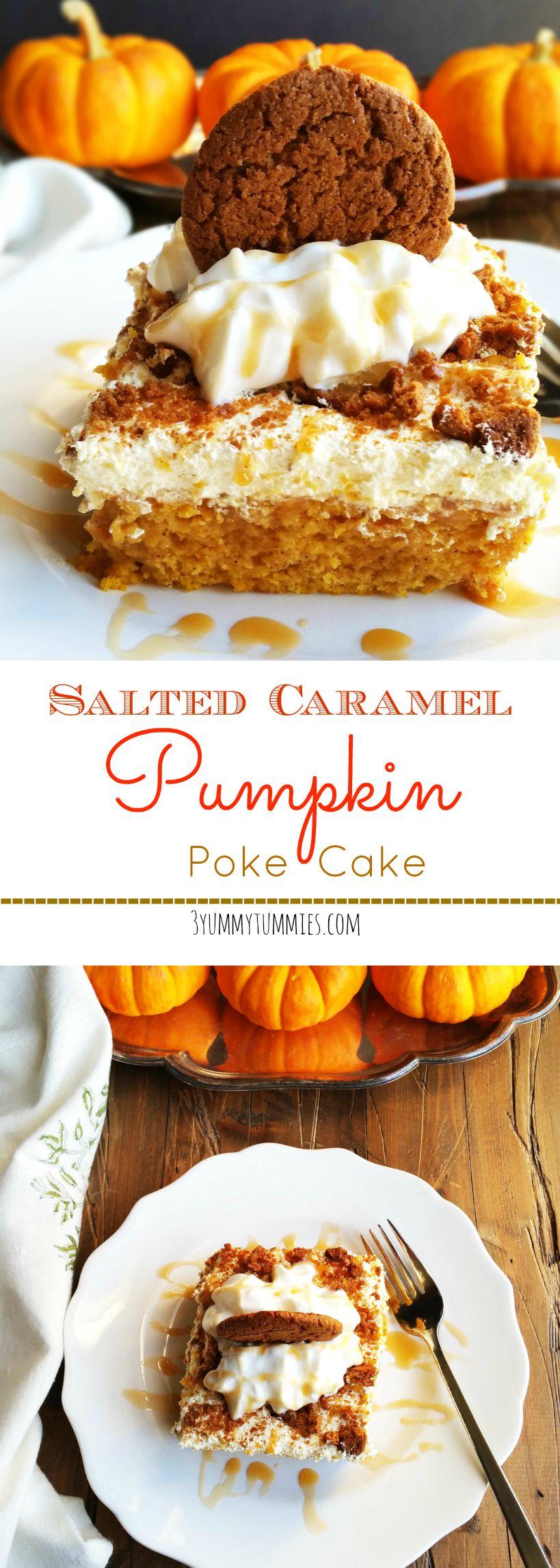 Pumpkin Poke Cake With Vanilla Pudding