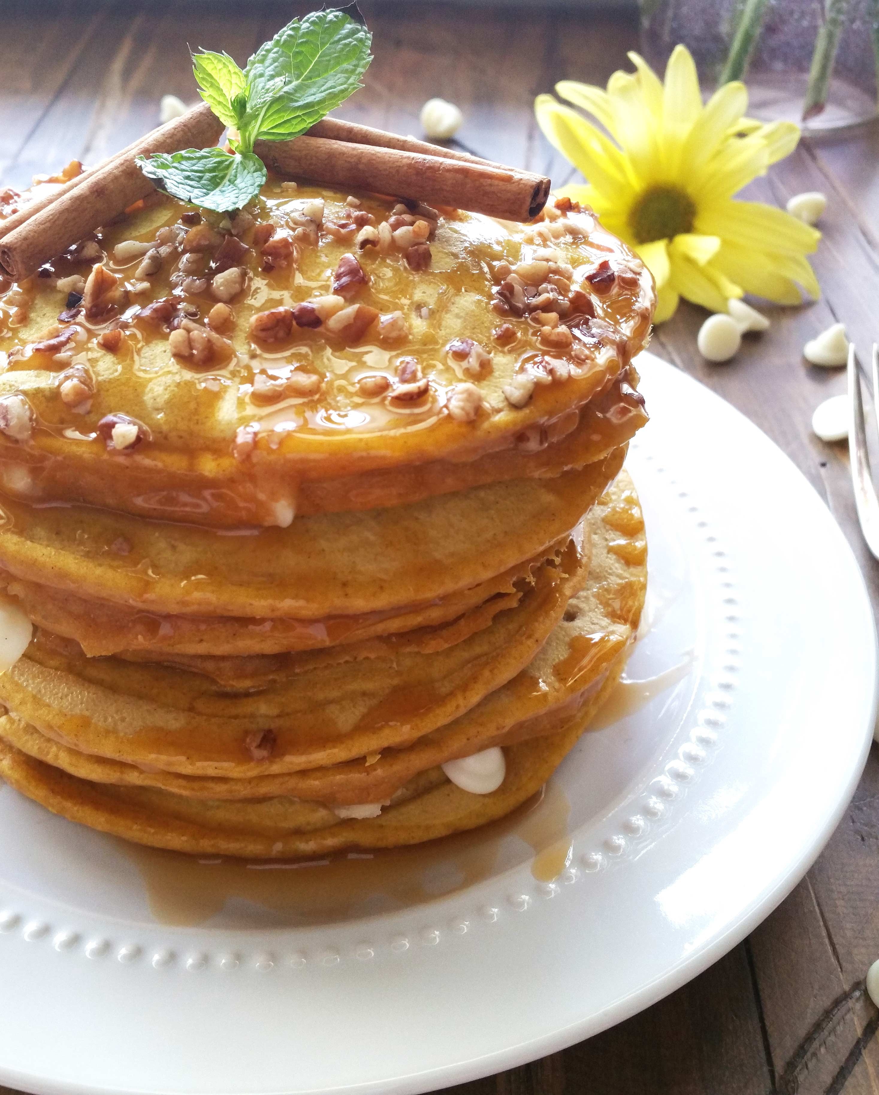 White Chip Pumpkin Pancakes