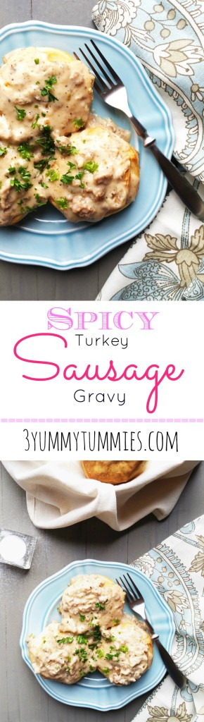 Spicy Turkey Sausage Gravy