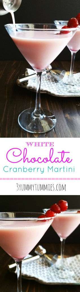 White Chocolate Cranberry Pink Martinis
