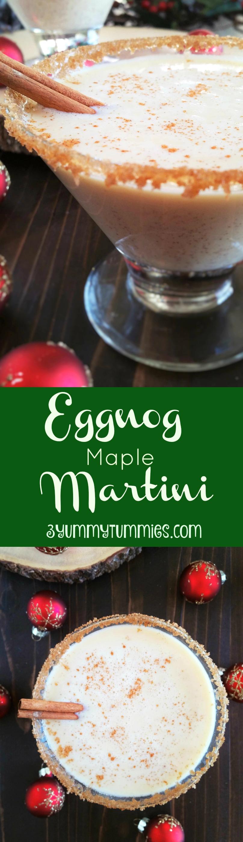 Eggnog Maple Martini