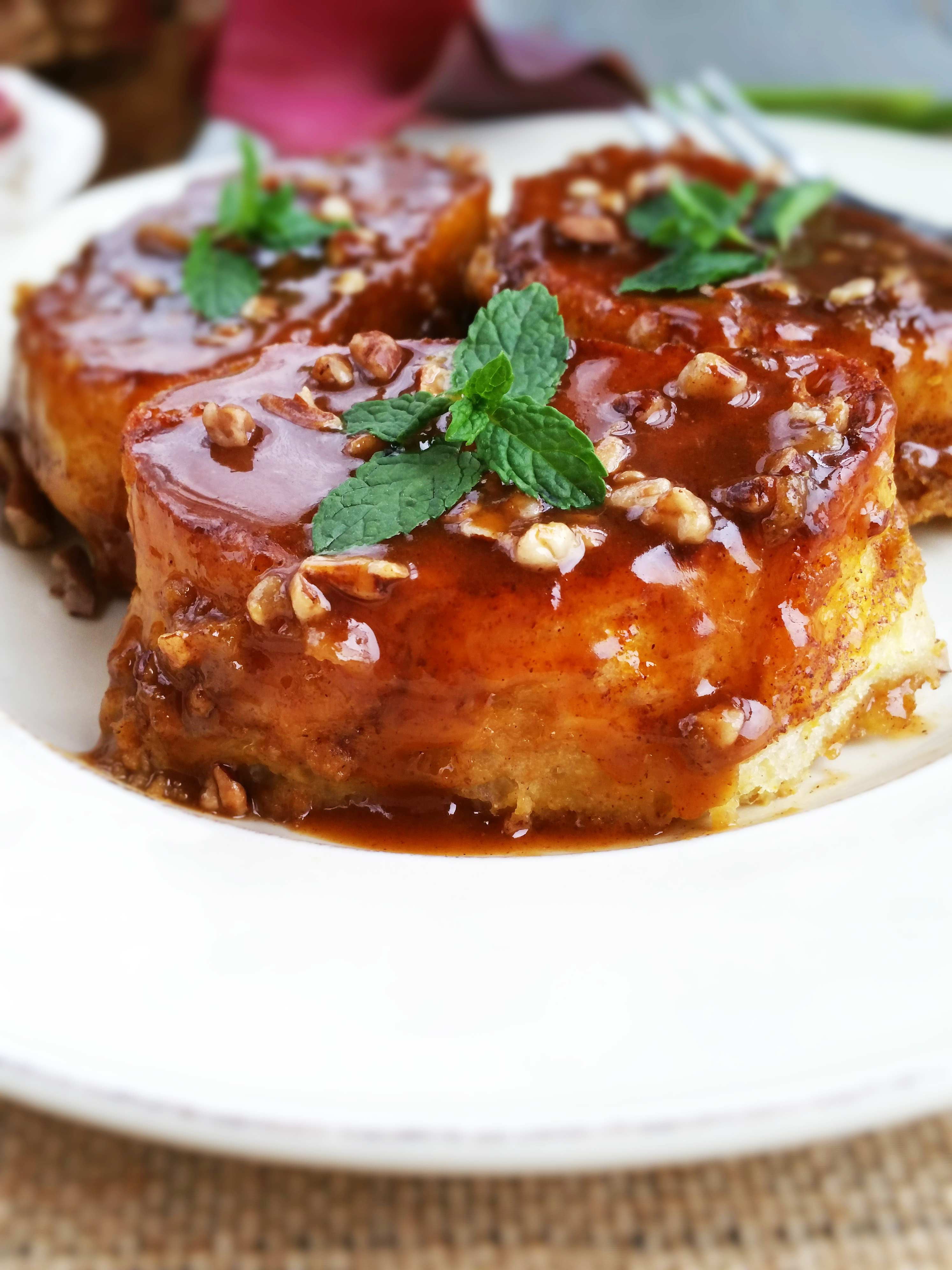 Pumpkin French Toast with Butterscotch Syrup