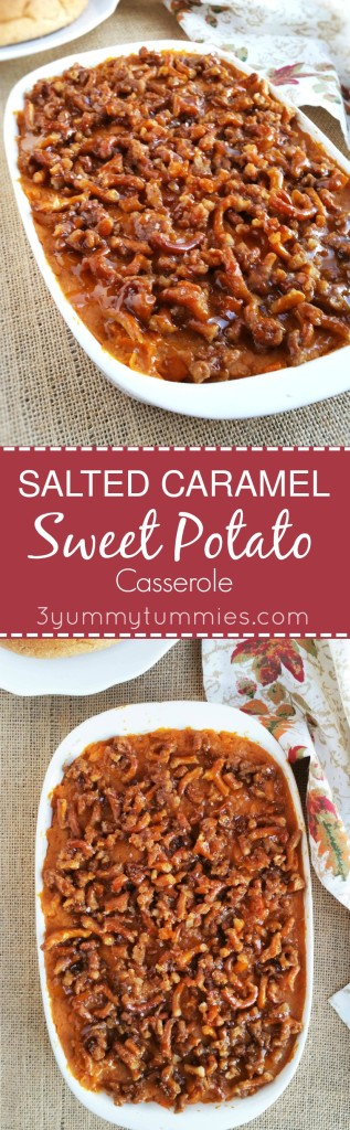 This Salted Caramel Sweet Potato Casserole is a great alternative to ...