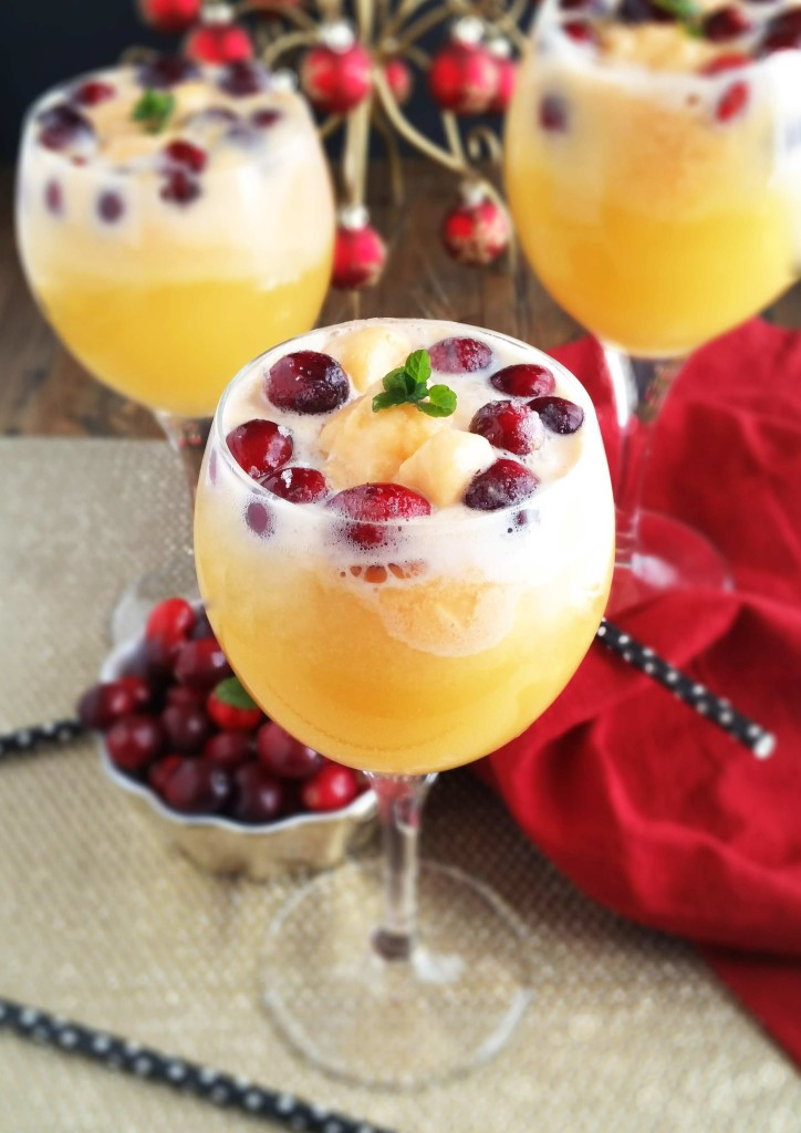 Cranberry Orange Mimosa Float