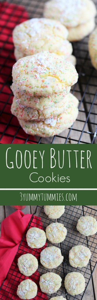 These are so easy to make with yellow cake mix. Talk about ooey gooey goodness!