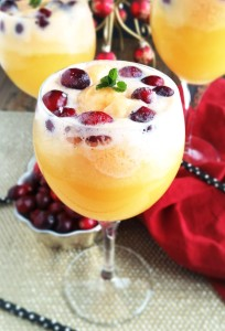 Orange Cranberry Mimosa Floats