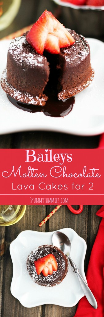 Baileys Molten Chocolate Lava Cakes for 2