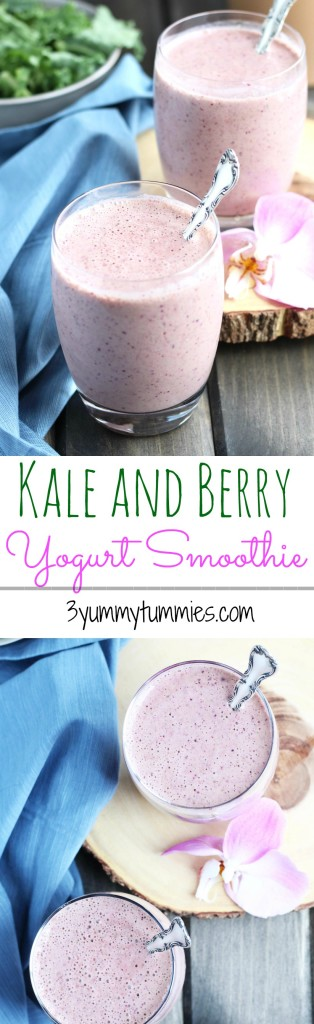 Kale and Berry Yogurt Smoothie