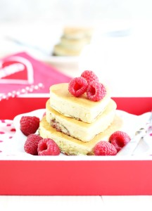 Raspberry Cream Cheese Heart Pancakes