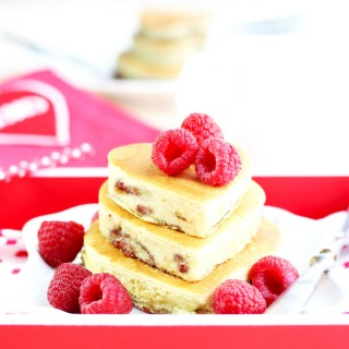 Raspberry Cream Cheese Heart Pacakes