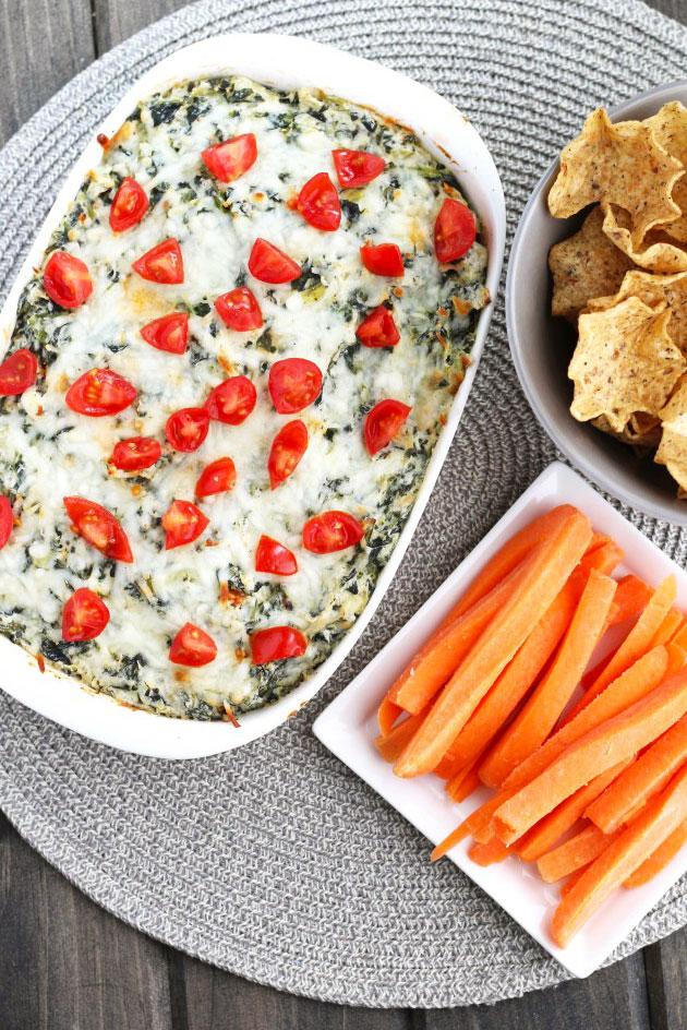 Skinny Spinach And Artichoke Dip | 3 Yummy Tummies