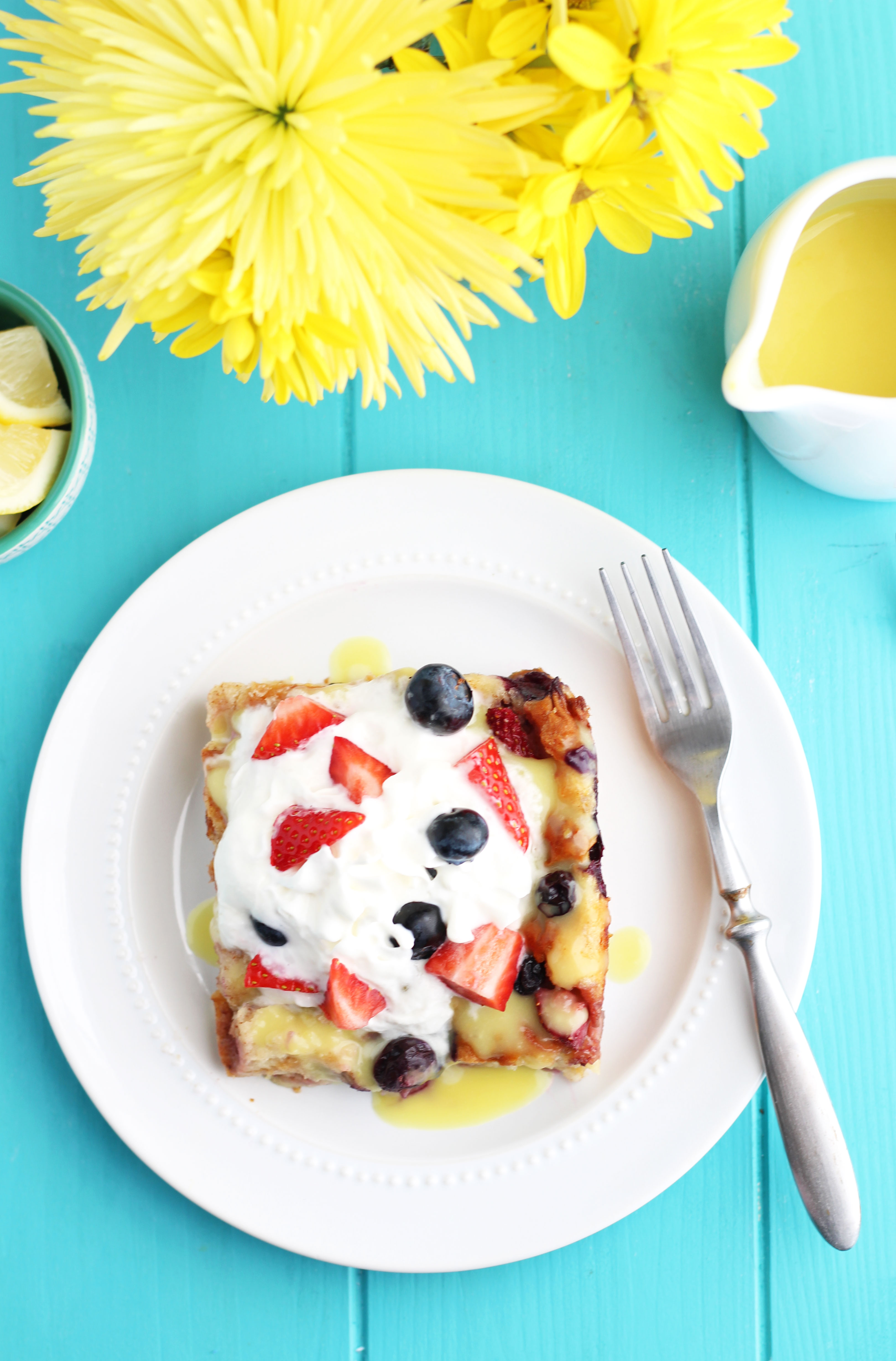 HawaiianSweet-Roll-and-Berry-Bread-Pudding-with-Lemon-Sauce-