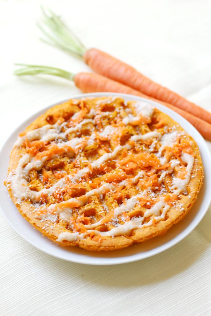 Secret Ingredient Carrot Cake Waffles