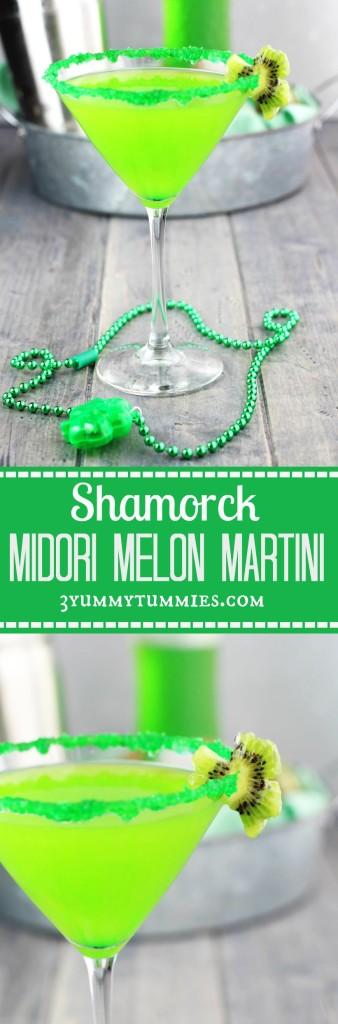 Shamrock Midori Melon Martini