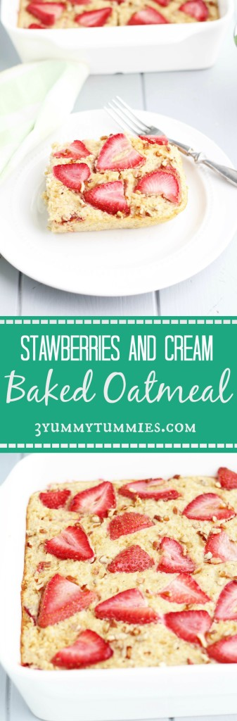 Strawberries and Cream Baked Oatmeal