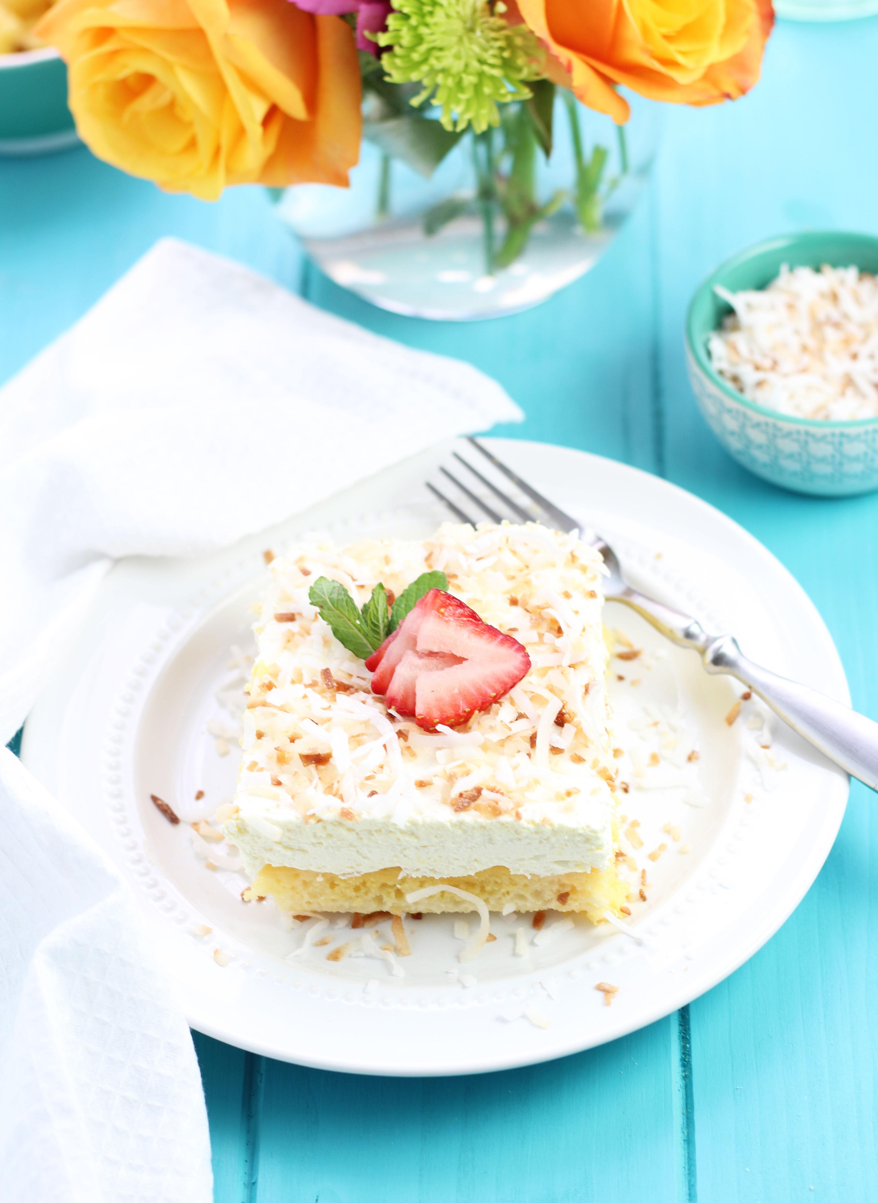 Pina-Colada-Poke-Cake