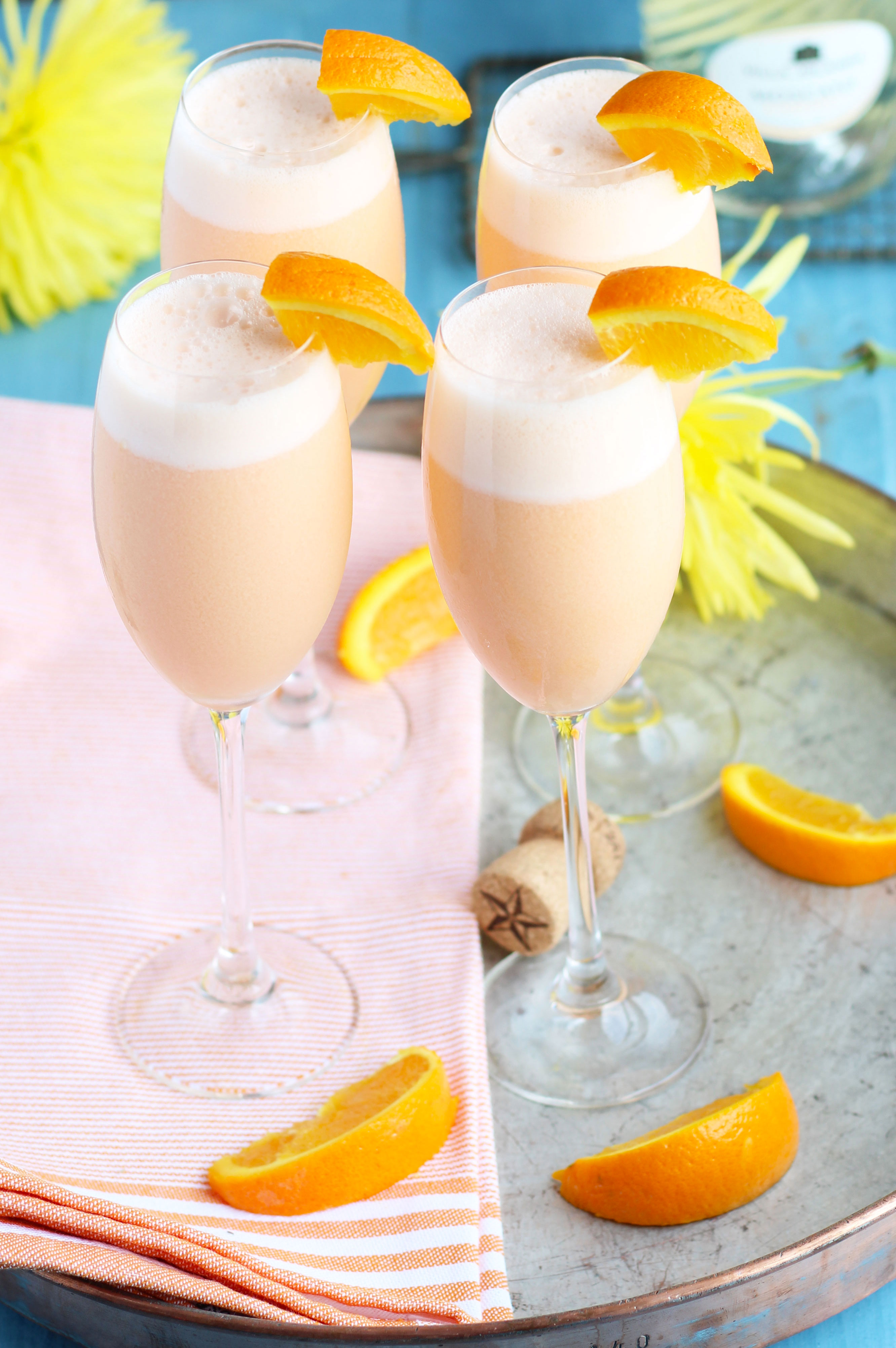 Pineapple Orange Creamsicle Mimosas | 3 Yummy Tummies