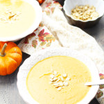 Vegetarian Autumn Squash Soup + Roasting Butternut Squash Seeds