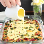 Broccoli Cheddar Breakfast Strata with Blender Hollandaise