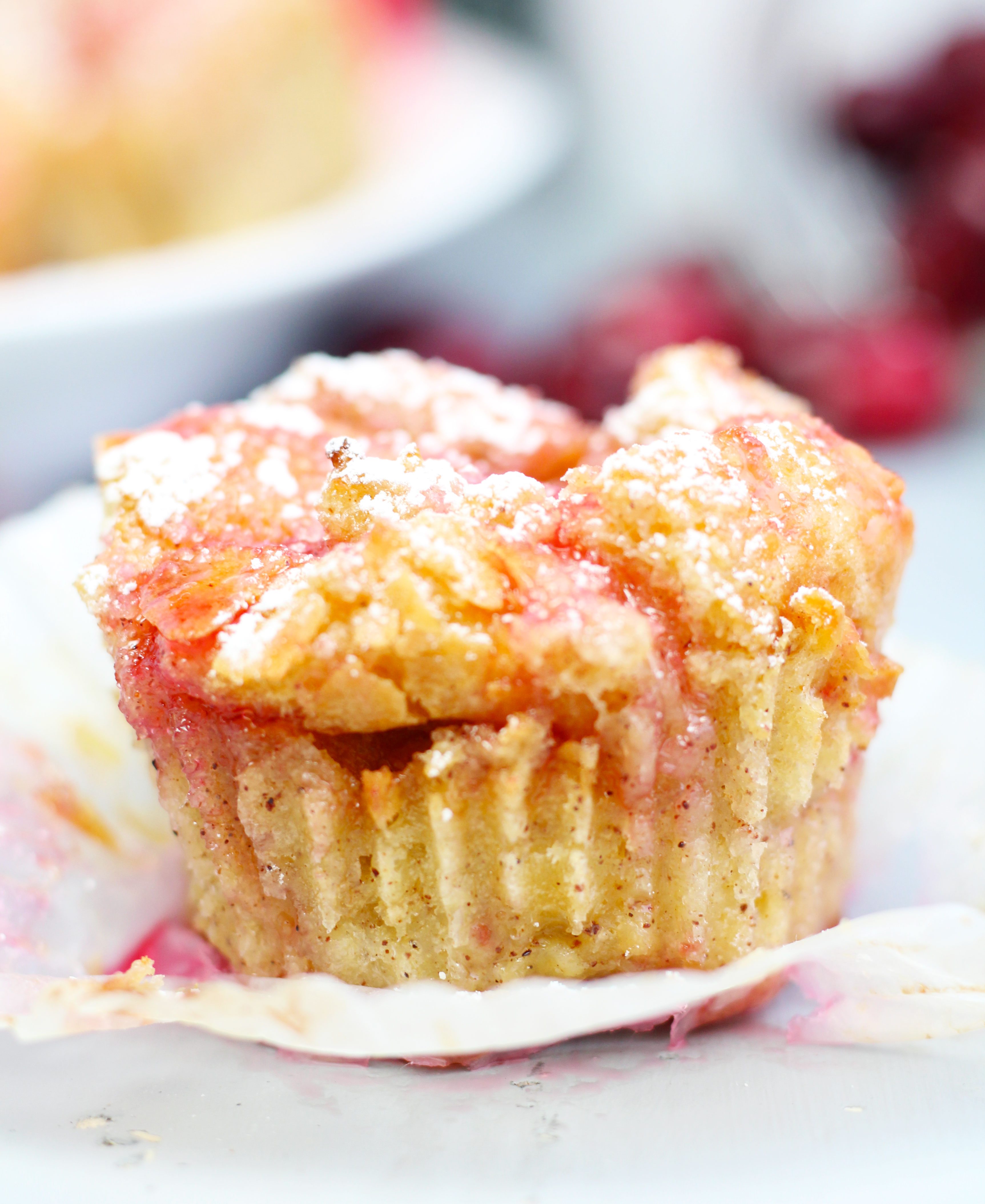 eggnog-french-toast-muffins-with-cranberry-syrup