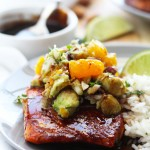 Glazed Salmon with Mandarin Orange Avocado Salsa