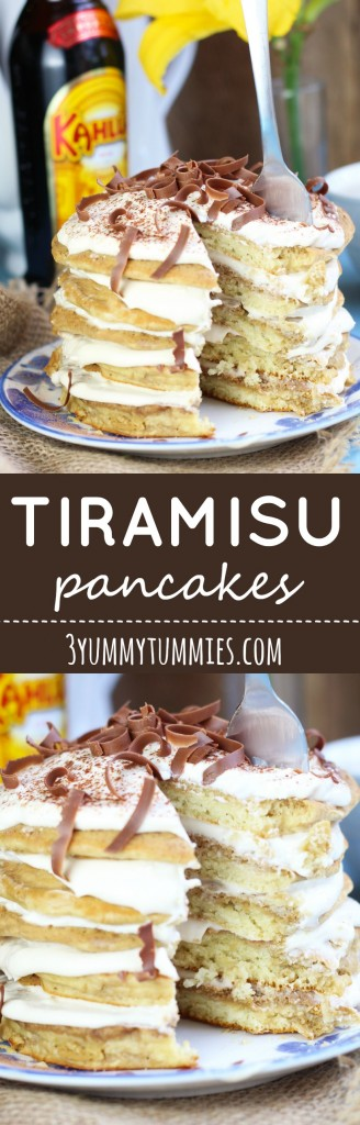 Give your pancakes an upgrade with mascarpone filling and plenty of Kahlua!