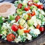 Kale and Quinoa Egg White Scramble