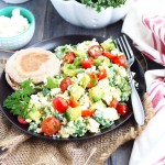 Kale and Quinoa Egg White Scramble
