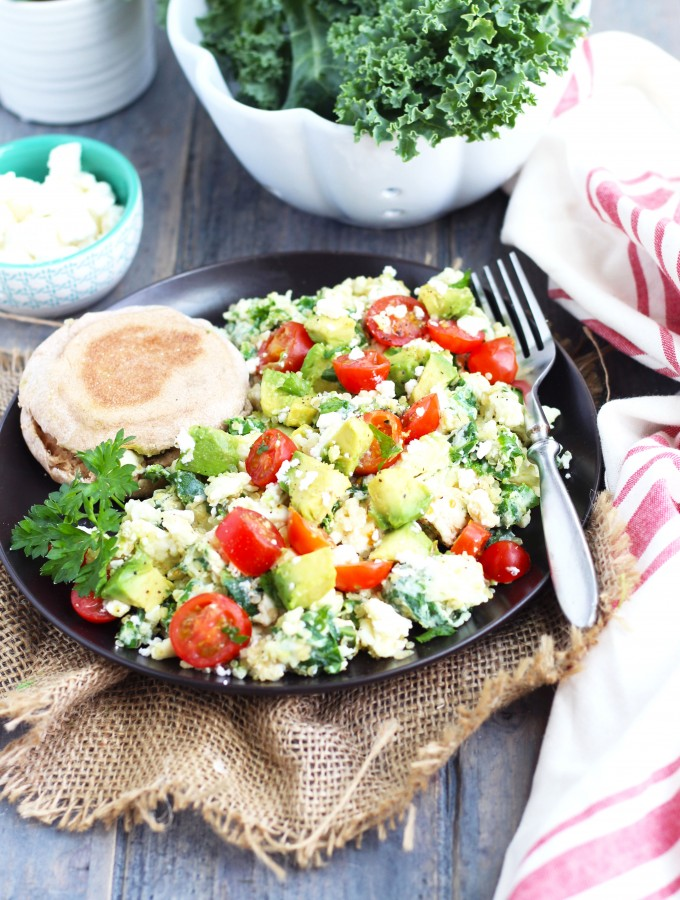 Kale-and-Quinoa-Egg white-Scramble-