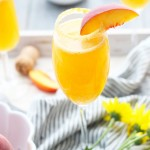 Peach Pie Bellinis