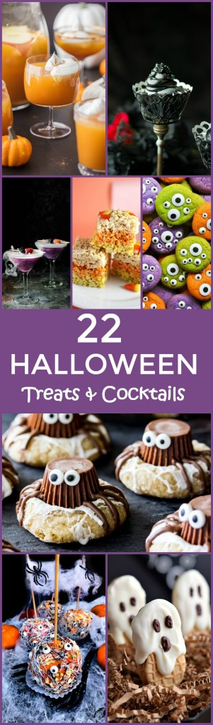 These 22 Halloween Treats and Cocktails are so fun for your parties!