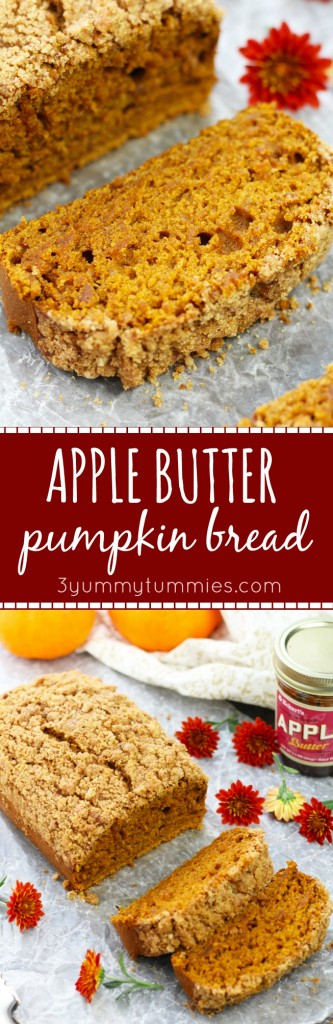 Apple Butter and pumpkin with a brown sugar crumb topping for a decadent fall treat.