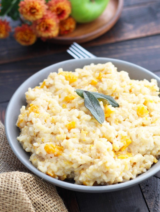Butternut Squash Risotto with Apple Cider