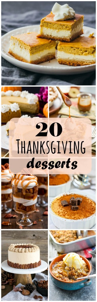 20 Thanksgiving Desserts Roundup