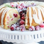 This festive, Cranberry Orange Bundt Cake is made with sour cream and orange glaze. Sugared cranberries make a beautiful garnishment.