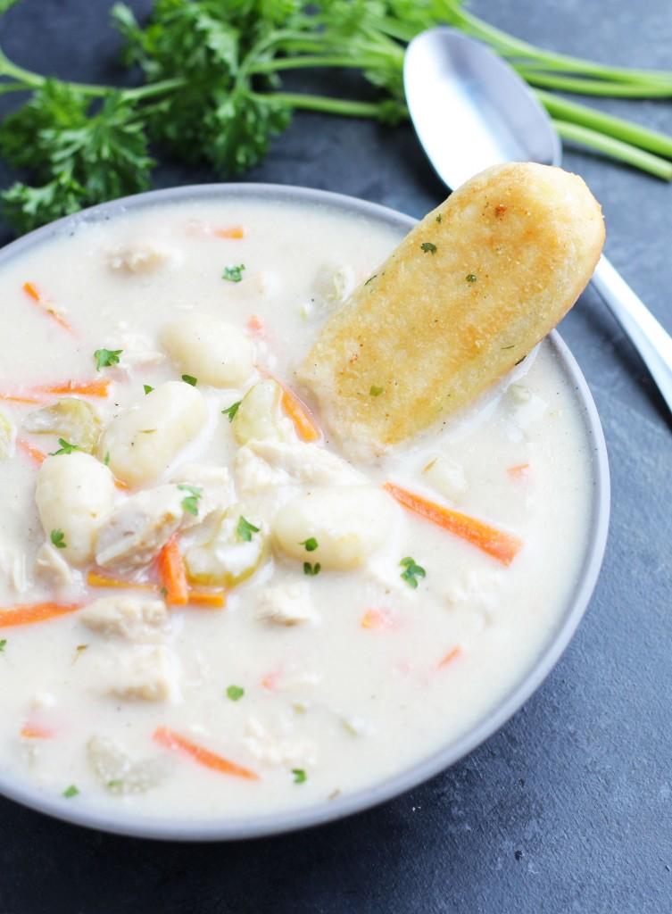 Crockpot Chicken Gnocchi Soup 3 Yummy Tummies