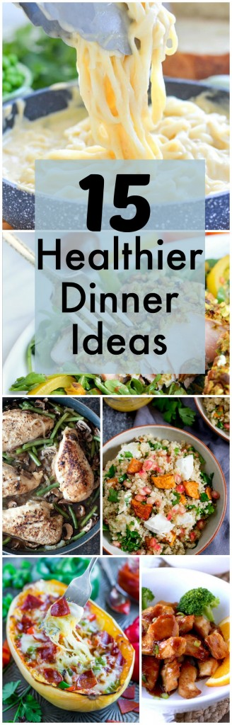 These 15 Healthier Dinner Ideas are the perfect way to jump-start the new year!  A combination of lean proteins, low-carb selections and healthier cooking styles make eating healthy so easy and delicious.