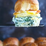 Spinach Artichoke Dip Breakfast Sliders