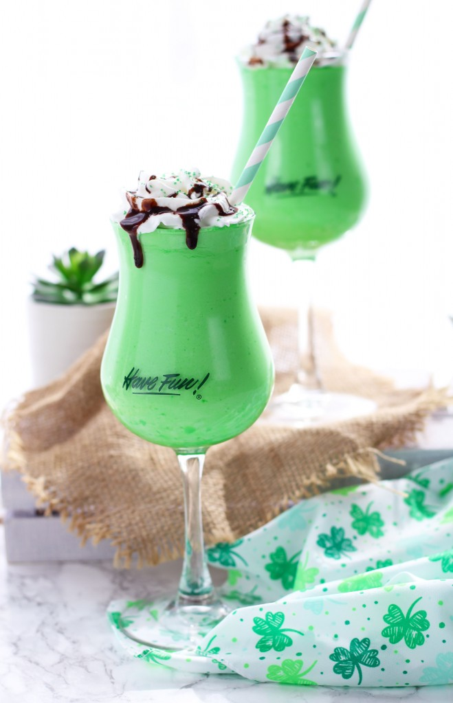 A festive, Irish Mudslide with Jameson and Baileys is a delectable St. Patrick's Day cocktail.