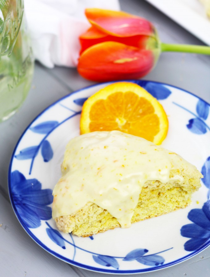 These Glazed Orange Scones taste just like the Panera version!
