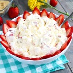 This Strawberry Cheesecake Fluff is the perfect easy dessert for BBQ's and potlucks.