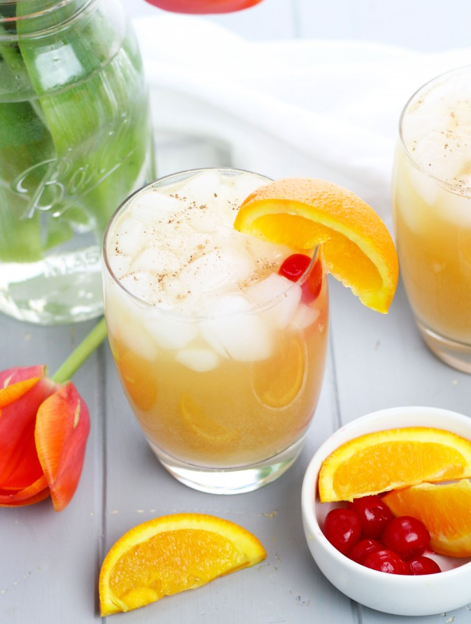 A Painkiller Cocktail is a refreshing tropical beverage with pineapple, coconut and orange flavors. It gets topped off with freshly grated nutmeg for an extra boost of flavor.