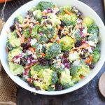 This Broccoli Slaw Salad is super easy to make with slaw dressing!