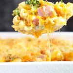 This Fancy Mac and Cheese is a complete meal with broccoli and ham. A bread crumb topping adds the perfect extra bit of crispiness